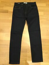 Men's Next Dark Indigo Blue Stretch Skinny Jeans Size 32 Long Tall W32 L34 Slim