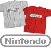 Modern Grey Nintendo Symbol Title Video Game Mens Womens Kids Unisex Tee T-Shirt