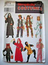 Child cat ninja hippy baby wizard costume pattern 8874 size 3 4 5 6 7 8