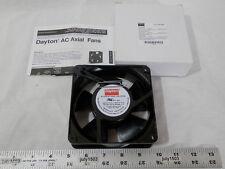"""(1) NEW Dayton 2RTD8 AC Axial Fan 99 cfm 230 volt 4-11/16"""" 15w Pancake Muffin"""