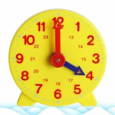 Student Learning Clock Time Teacher Gear Clock 4 Inch 12/24 Hour For Kids
