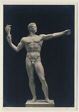 """Arno Breker """"monumentalfigur"""" male nude/hombres acto * vintage 30s rppc gay int"""