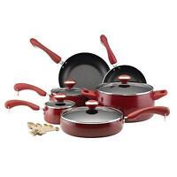 15 piece cookware set ceramic nonstick pots&pans cooking set for kitchen (Red)