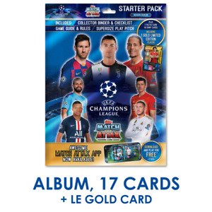 2019-20 TOPPS MATCH ATTAX CHAMPIONS LEAGUE STARTER ALBUM +17 CARDS IN STOCK