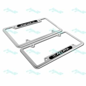 For ACURA Silver BK Metal Stainless Steel License Plate Frame MDX RDX TSX TL X2