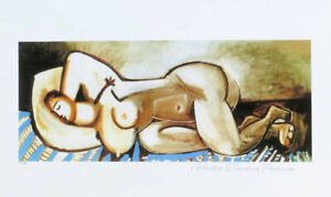 Pablo Picasso Sleeping Nude Woman Limited Edition Giclee Signed 13 x 20