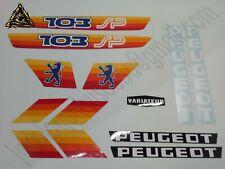Autocollant Peugeot 103 SP PH2 Orange.