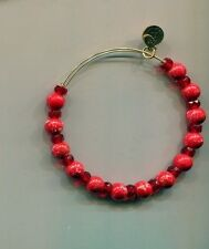 Alex & Ani big gold red glass bead bracelet