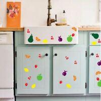 50 Mixed Fruit Vinyl Sticker Kitchen Fridge Wall Window Car Decoration 1:1 Scale