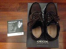 Geox sneakers di pelle e camoscio colore marrone Tg.36 ORIGINALI!