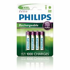 4 x Philips MultiLife batterie rechargeable Micro AAA R03 700 mAh