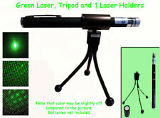 3 PC Green Laser Pen With Holder & Tripod~Paranormal Equipment