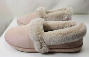 Skechers Pink Night Cap Plush Faux Cali Memory Foam Womens Slippers Size 10