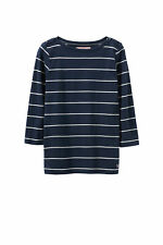 New Crew Clothing Womens Breton Boat Neck Tee in Blue