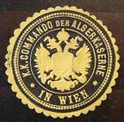 Siegelmarke um 1900 , k.k. Commando der Alserkaserne in Wien