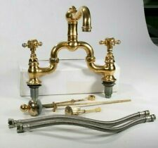 Vintage Solid Brass Rohl Nicolazzi Luxury Tap Bridge Faucet Made In Italy
