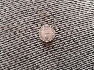 EDWARD V11 1903 MAUNDY MONEY SILVER THREE PENCE 3D COIN