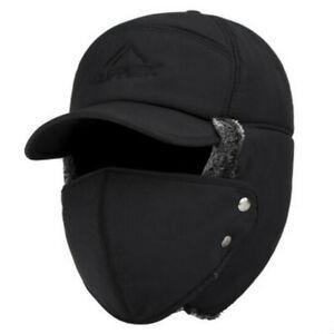 New Warm Ski Hat Women Aviator Hat with Ear Flap Men Winter Trapper Hat Fur Gift