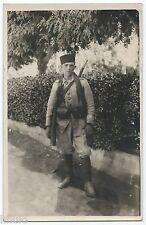 DA655 Carte Postale Photo vintage RPPC Militaire fusil Damas Syrie
