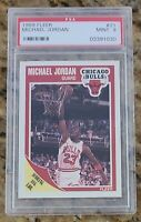 HOF Michael Jordan 1989 Fleer #21 PSA 9 MINT Chicago Bulls #2