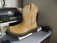 Roper Chunk Floral Embroidered Cowboy Cowgirl boots Western 6.5 womens ladies