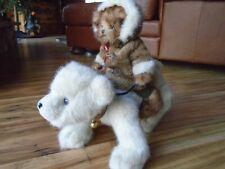 """Bearington Bears """" Willy & Chilly """" Polar Bear with Riding Bear #1572 EskimoCoat"""