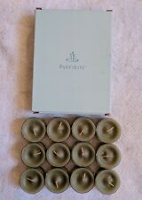12 PartyLite GINGER APPLE Tealight Candles Retired Autumn Fall NEW V045299