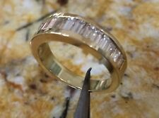 Diamonds 18 Karat Yellow gold Wedding Band/Anniversary All Baguettes Fine