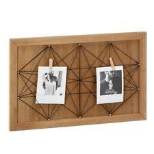 Fotowand Bilderrahmen Fäden Schnüren für Collagen Holz Dekor modern ausgefallen