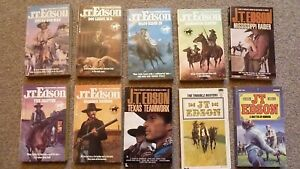 J T Edson westerns - 6 'Waco' paperback books plus 4 others