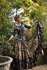 Bloque de danza del vientre tribal de impresión lentejuelas negro Schwarz Espejo