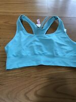 PINK Victoria's Secret ULTIMATE Unlined Mesh Racerback Sports Bra Bralette Sz L