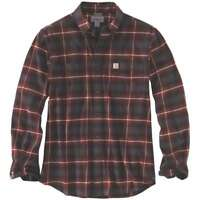 Carhartt 103314C - Rugged Flex Hamilton Plaid Flannel Shirt - Fired Brick 225