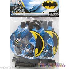 BATMAN BLOWOUTS (8) ~ Birthday Party Supplies Favors Paper Superhero DC Comics