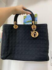 Christian Dior Lady Dior Cannage Large Handbag