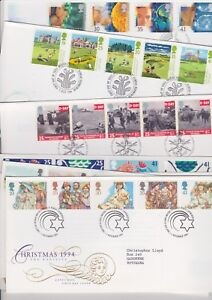 ** FIRST DAY COVERS 1994 MULTIPLE LISTING BUY 4 FOR FREE POSTAGE **