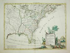 United States America Florida Louisiana Carolina New York Zatta map Karte 1778