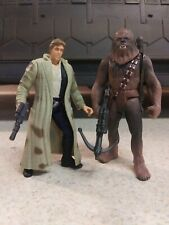 Star Wars Han And Chewbacca Endor Kenner 1997 POTF 3.75 Action Figures Lot