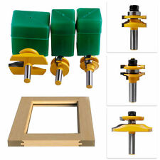 3Pcs 1/2'' Shank Rail & Stile Ogee Blade Cutter Panel Cabinet Router Bits Tool