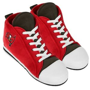 Tampa Bay Buccaneers High Top Sneaker SLIPPERS New - FREE U.S.A. SHIPPING