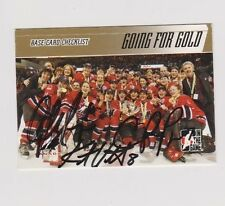 ITG Team Canada Women's Hockey Going For The Gold Checklist Card Signed by 3 A