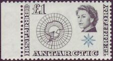 British Antarctic Territory 1963 Original £1 Value - Antarctic Map - SG 15 UM
