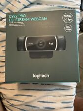 Logitech C922 Pro Stream Webcam with Tripod, Black **Brand New / In Hand!**