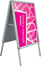 A2 A-BOARD PAVEMENT POSTER SNAP FRAME DISPLAY SIGN STEEL BACK BOARD A1 A0