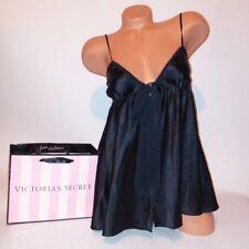 Victoria Secret Lingerie Chemise Babydoll XS Black Flyaway Solid