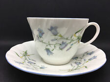 """Queen's cup & saucer in a Blue & pink floral design """"Harebell"""" pattern"""