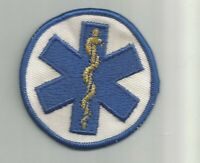 Star of Life Medical EMT Paramedic patch 2-3/4 dia #4490