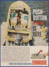 Vintage 1961 EVINRUDE Starflite Lark Outboard Motor Boating Ephemera Print Ad