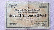 More details for 2 million german mark 1923 vintage collectable rare zwei millionen mark