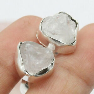 Rough Herkimer Diamond 925 Silver Plated Handmade  Ring US Size 8.5 Ethnic Gift